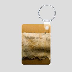 Dead Sea scroll Aluminum Photo Keychain