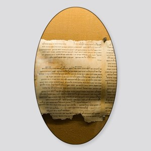 Dead Sea scroll Sticker (Oval)