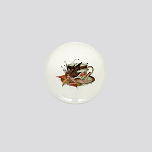 AUTUMN Teacup Fairy Mini Button