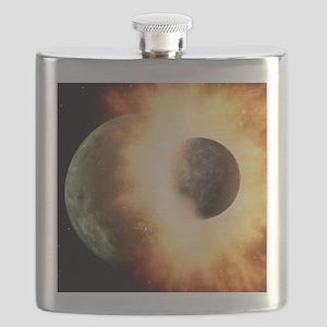 Celestial impact, artwork Flask