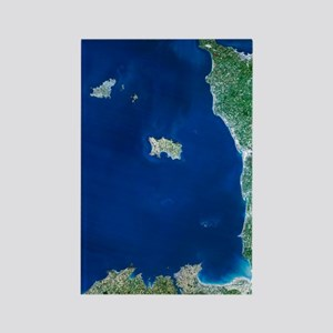 Channel Islands, satellite image Rectangle Magnet