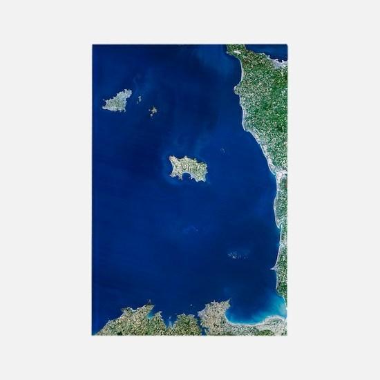 Channel Islands, satellite image Rectangle Magnet