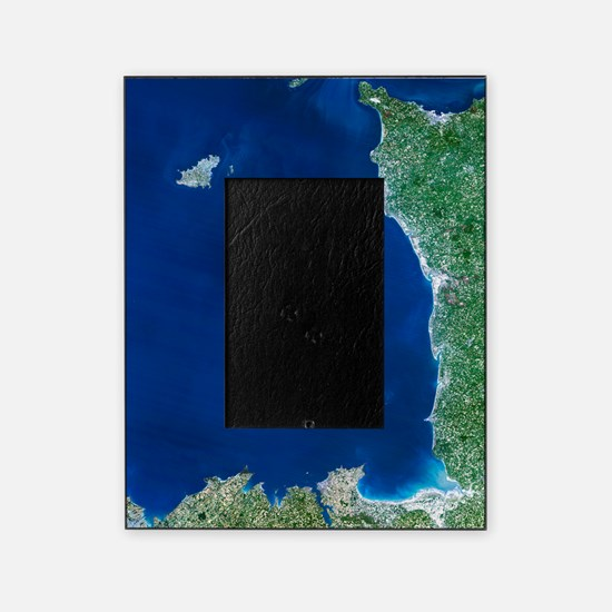 Channel Islands, satellite image Picture Frame