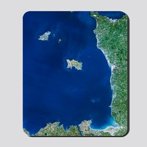 Channel Islands, satellite image Mousepad