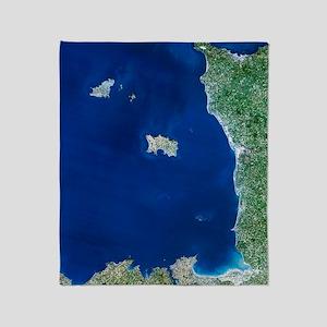 Channel Islands, satellite image Throw Blanket
