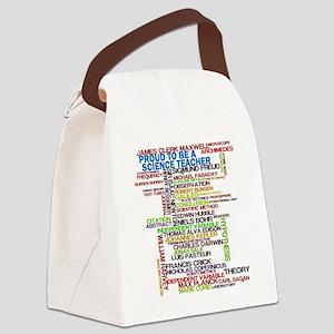Proud Science Teacher Canvas Lunch Bag
