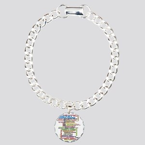 Proud Science Teacher Charm Bracelet, One Charm
