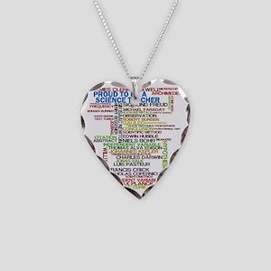 Proud Science Teacher Necklace Heart Charm