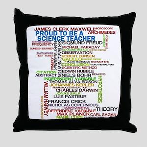 Proud Science Teacher Throw Pillow