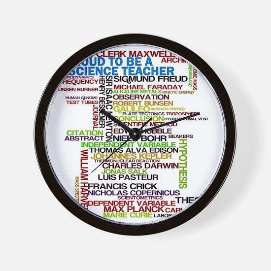 Proud Science Teacher Wall Clock