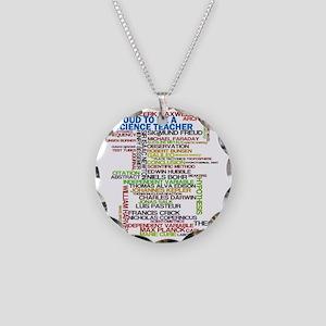 Proud Science Teacher Necklace Circle Charm