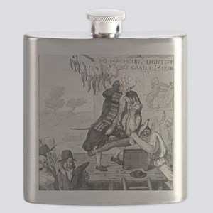 Dentistry, satirical artwork Flask