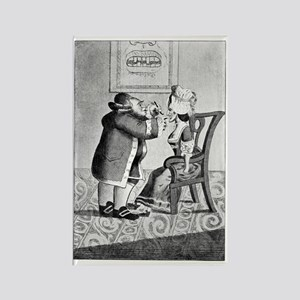 Dentistry, satirical artwork Rectangle Magnet