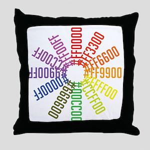 Hex color wheel Throw Pillow