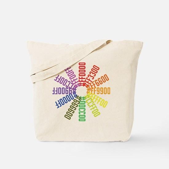 Hex color wheel Tote Bag