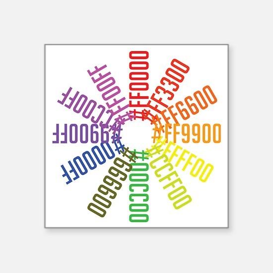 """Hex color wheel Square Sticker 3"""" x 3"""""""