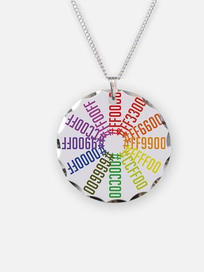 Hex color wheel Necklace