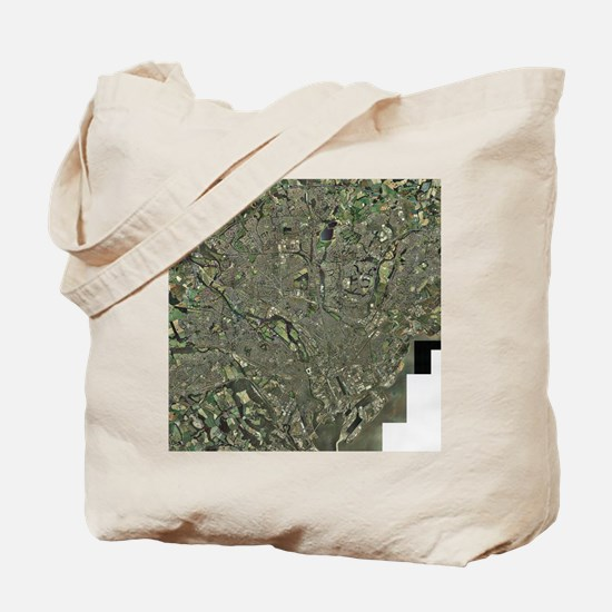 Cardiff, aerial photograph Tote Bag