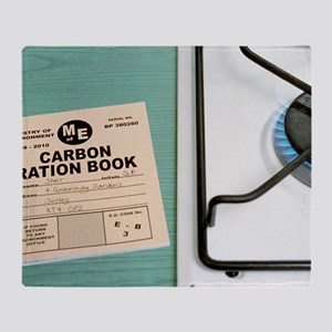 Carbon rationing, conceptual image Throw Blanket