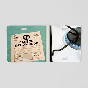 Carbon rationing, conceptua Aluminum License Plate