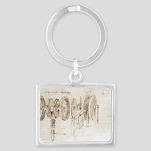 Da Vinci's notebook Landscape Keychain
