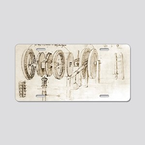 Da Vinci's notebook Aluminum License Plate
