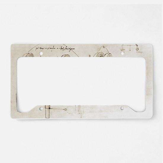 Da Vinci's notebook License Plate Holder