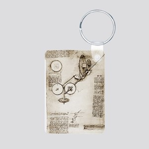 Da Vinci's notebook Aluminum Photo Keychain