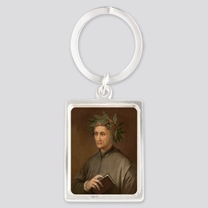 Dante Alighieri poet wrote Divin Portrait Keychain