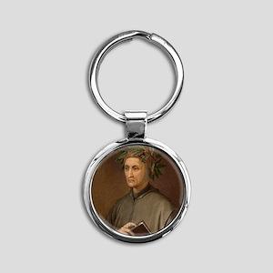 Dante Alighieri poet wrote Divine C Round Keychain