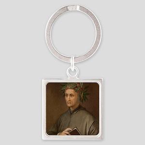 Dante Alighieri poet wrote Divine  Square Keychain