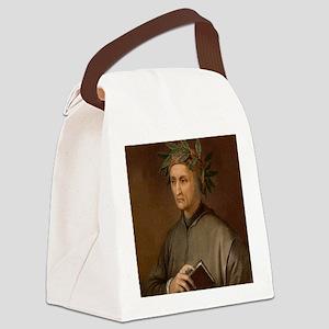 Dante Alighieri poet wrote Divine Canvas Lunch Bag