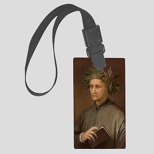 Dante Alighieri poet wrote Divin Large Luggage Tag
