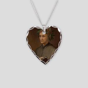 Dante Alighieri poet wrote Di Necklace Heart Charm