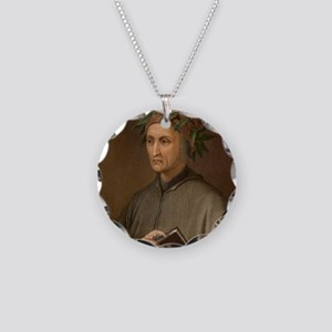 Dante Alighieri poet wrote D Necklace Circle Charm