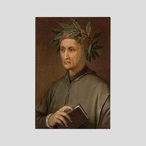 Dante Alighieri poet wrote Divine Rectangle Magnet