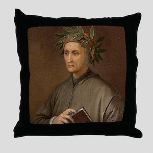 Dante Alighieri poet wrote Divine Com Throw Pillow