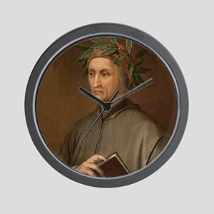 Dante Alighieri poet wrote Divine Comed Wall Clock