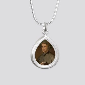 Dante Alighieri poet wro Silver Teardrop Necklace
