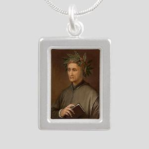 Dante Alighieri poet wro Silver Portrait Necklace