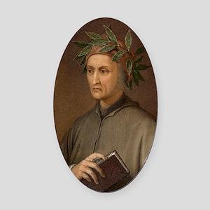 Dante Alighieri poet wrote Divine  Oval Car Magnet