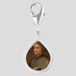 Dante Alighieri poet wrote  Silver Teardrop Charm