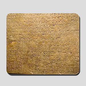 Cuneiform inscription Mousepad