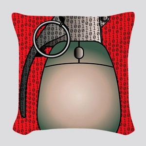 Cyber warfare, conceptual artw Woven Throw Pillow