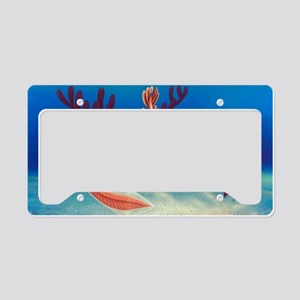 Cambrian animals, artwork License Plate Holder