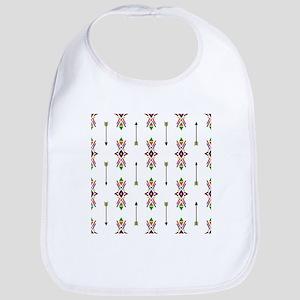 Geometric arrows ethnic traditional Nativ Baby Bib