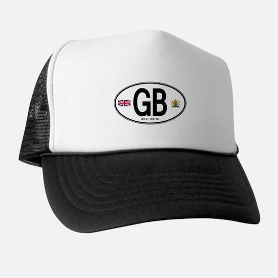 Great Britian (GB) Euro Oval Trucker Hat