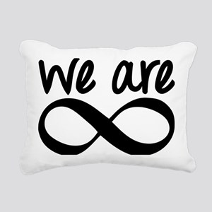 We Are Infinite Rectangular Canvas Pillow