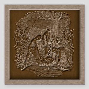 "Nativity of Jesus Square Car Magnet 3"" x 3"""