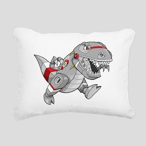 Dinosaur Robot Rectangular Canvas Pillow